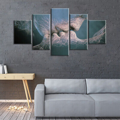 5Pcs Modern Canvas Art Painting Picture House Living Room Wall Hangings Decor UK • 14.29£