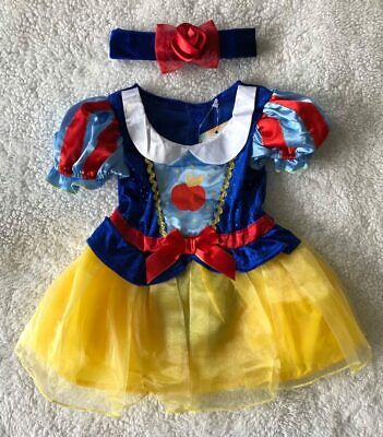 Baby Girls Disney 🍎 Snow White 🍎 2Pce Fancy Dress Up/All In One Costume ~ 6-9m • 19.99£