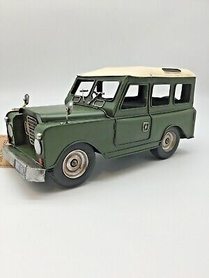 Land Rover Vintage Tin Plate Giftware Cars Planes Retro Gift Canvas Look Roof • 27.99£