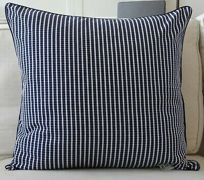 AU39.95 • Buy Large Cushion Cover 60 X 60 - Dark Navy Micro Check - Daybed Couch