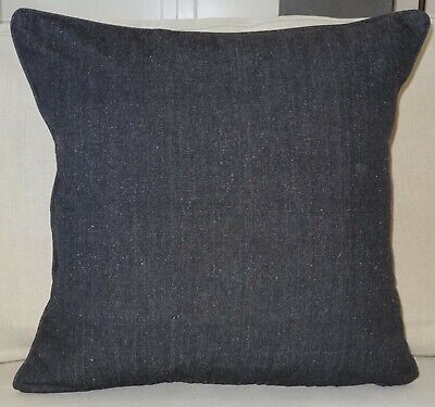 AU39.95 • Buy 60 X 60cm Cushion Cover Plain Black Chambray - Daybed Couch Floor Cushion Cover