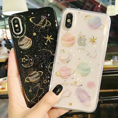 Phone Case For IPhone 11 XR 7 8 Plus Shockproof Cute Planet Moon Star Case Cover • 2.99£