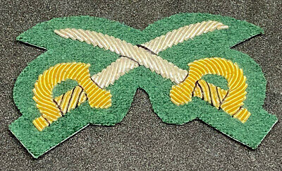 British Army Physical Training Instructor Patch - Dark Green/Gold/Silver • 6.95£