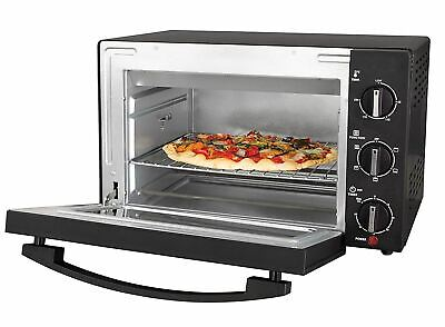 Mini 20ltr Compact Electric Oven With Rotisserie Black Stainless Steel • 59.95£