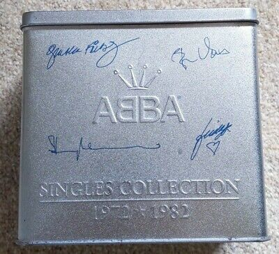 MUSIC: ABBA TIN OF 29 CDs Booklet Singles Collection 1972-1982 Christmas Gift • 79.99£