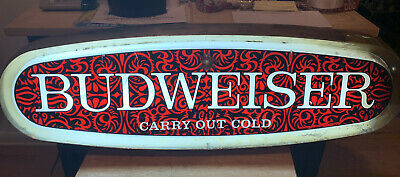 "$ CDN252.51 • Buy Vintage Budweiser ""Carry Out Cold"" Lighted Electric Advertising Beer Sign"