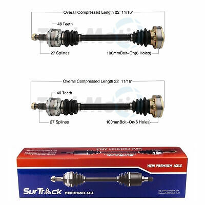 $114.46 • Buy SurTrack Pair Set Of 2 Rear CV Axle Shafts For BMW E30 318i 325e 325i 325is M3