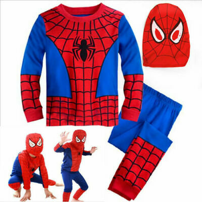 Boys Kids Super Hero Fancy Dress Spiderman Cosplay Costume Child Clothes Outfits • 8.04£
