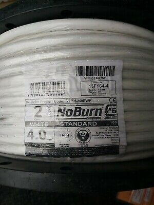 AU290.16 • Buy FP Cable 2 Core + Earth 4mm² X 100 Metre White BS 6387  BS 7629-1 Basec Cable