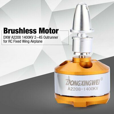 DXW A2208 1400KV 2-4S Outrunner Brushless Motor For RC Fixed Wing Airplane ZX • 8.41£