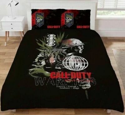£28.99 • Buy Call Of Duty WARNING  Double Duvet Cover Bedding QUILT Set Gamers COD DOUBLE NEW