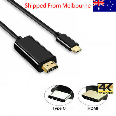 AU14.49 • Buy USB C To HDMI Cable USB 3.1 Type C Male To HDMI 1.8m Cable Thunderbolt 3 UHD 4K