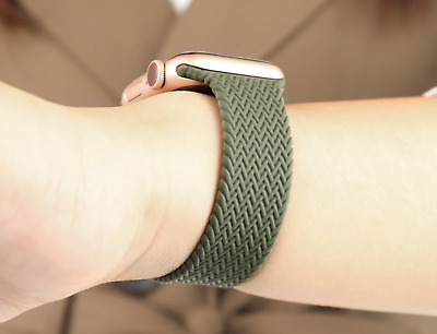 $ CDN11.74 • Buy Braided Woven Solo Loop Strap Apple Watch Band Series 6 5 4 SE 3 2 1 Watchband