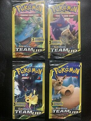 AU16.99 • Buy Pokemon Sun & Moon: Team Up 3 Card Mini Booster X4 - Full Artset - SEALED