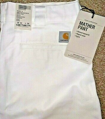 Bnwt Mens Carhartt Wip Mather Pant Relaxed White Chino Trousers - W32 L34  • 24.99£
