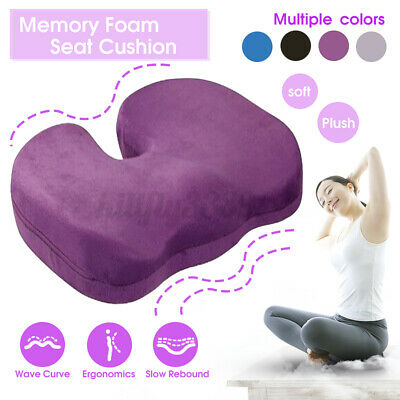 AU23.50 • Buy Memory Foam Seat Cushion Pillow Bolster Chair Car Office Home Coccyx Pain Relief