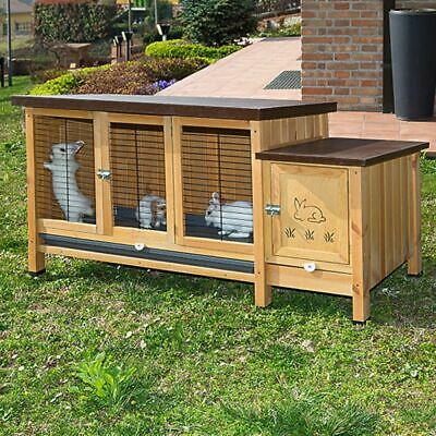 Ferplast Wooden Indoor Rabbit Hutch Home Elegant White Wood Cage For Small Pets • 169.90£