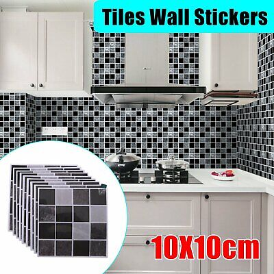 £5.69 • Buy 54X Kitchen Tile Stickers Bathroom Mosaic Sticker Self-adhesive Wall Home Decor