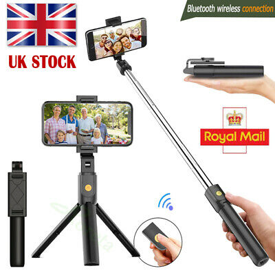 Telescopic Selfie Stick Bluetooth Tripod Monopod Phone Holder For IPhone Samsung • 7.99£