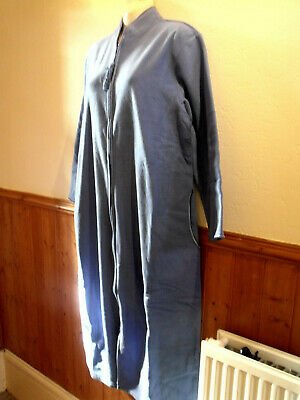 Brand New Lady Olga Zip Front Dressing Gown - Pink Or Blue - Sz 22/24 • 21£