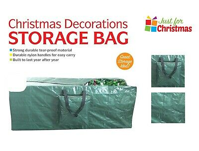 9fT 8ft LARGE HEAVY DUTY CHRISTMAS TREE BAG ARTIFICAL STORAGE ZIP HOLDER HANDLES • 8.45£