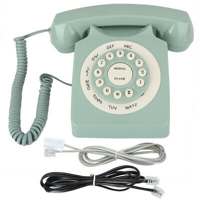 Style Retro Telephone Wired Desktop Vintage Landline Fixed Line For Home Office • 23.51£