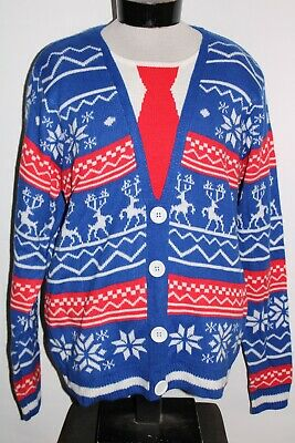 $42.72 • Buy JOLLY SWEATERS Mens Large L UGLY-CHRISTMAS Sweater Combine Ship Discount