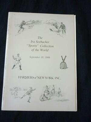 £9.99 • Buy Harmers Auction Catalogue 1986 Sports Collection Of The World 'seebacher'