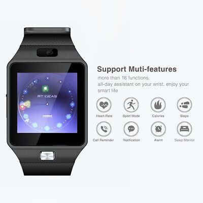 AU12.42 • Buy DZ09 Bluetooth 3.0 Touch Camera Sports Watch Pedometer 1.54 Inch Smart Bracelet