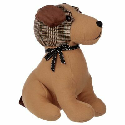 £15.79 • Buy Tweed Dog Design Door Stop Brown Polyester With Polyester And Sand Filling NEW