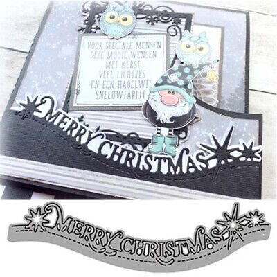 £2.59 • Buy Merry Christmas Lace Metal Cutting Dies Stencils Scrapbooking Card Making Craft
