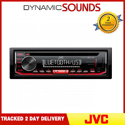 AU191.93 • Buy JVC KD-R794BT CD Receiver With Front AUX/USB Input MP3 Bluetooth Car Stereo
