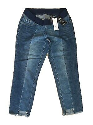 BNWT NEXT Maternity Jeans 14L Long Slim Slouch RRP £32 • 10£
