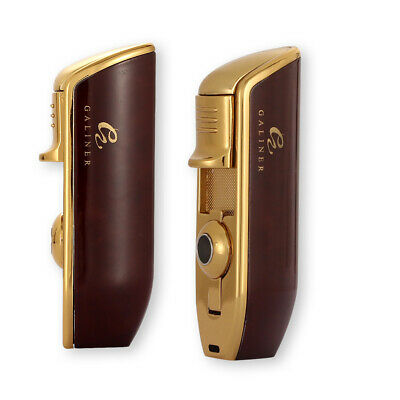 Galiner Cigar Lighter 3 Jet Flame Torch With Cigar Punch Gas Butane Refillable • 13.99£