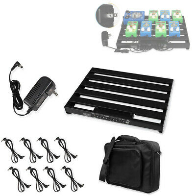 $ CDN156.78 • Buy Guitar Powered Effect Pedal Board 15in X 11in W/ Power Supply & 8 Power Cable US