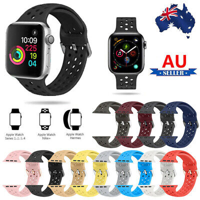 AU11.39 • Buy Silicone Sport Band Strap IWatch 38/40/42/44mm For Apple Watch Series 6/5/4/3/2