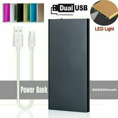 AU15.95 • Buy 900000mAh Portable Power Bank Dual USB LED Battery Charger For Mobile Phone AU