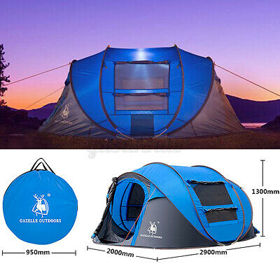 AU93.05 • Buy Instant Pop Up 5-8 Person Camping Tent Waterproof Family Backpacking Hiking Tent