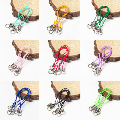 £1.79 • Buy 10PCS Mobile Phone Cord Mobile Charm Lanyard Strap Thread Buckle Lobster Clasps