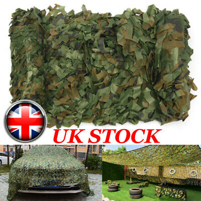Camping Camo Net Cover Army Hide Colors Camouflage Netting Hunting Shooting UK • 7.99£