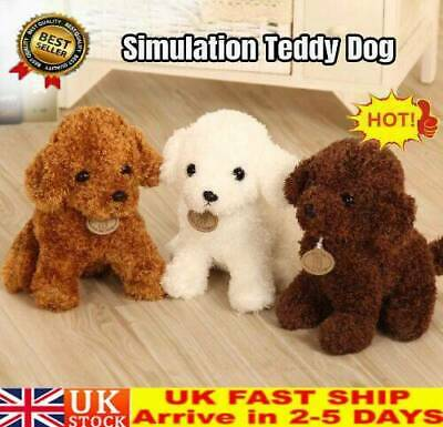 UK Cute Simulation Dog Plush Toy Puppy Doll Teddy Dog Gifts For Kids Friends  • 7.59£