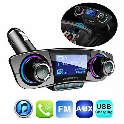 Car FM Transmitter Wireless Bluetooth Handsfree Kit MP3 Player USB Charger AUX • 11.05£