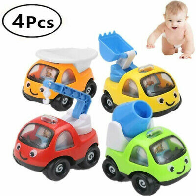 AU16.99 • Buy 4PCS Toy Cars Gifts Pull Back And Go Vehicles Set For Baby Boys 1 2 3 Years Old