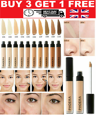 Phoera® Full Coverage Concealer Foundation Makeup Matte Brighten Long Lasting UK • 4.95£