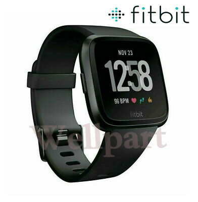 $ CDN99.71 • Buy Fitbit Versa Smart Watch Fitness Activity Tracker Black With Band Heart Rate NEW
