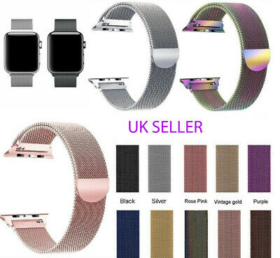 AU8.21 • Buy 38/40/42/44mm For Apple Watch Strap Series Magnetic Milanese Loop Band