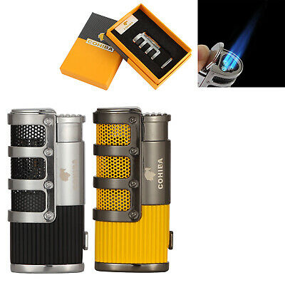 Cohiba Cigar Lighter Windproof 3 Torch Jet Cigarette Lighter With Punch Gift Box • 17.99£