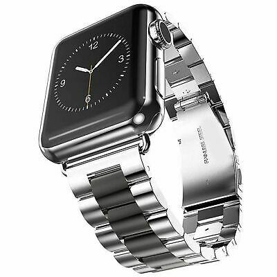 AU18.99 • Buy Stainless Steel Strap Metal Bracelet Band For Apple Watch Series 6 5 4 3 21