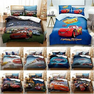 The Cars Duvet Cover Set TV Movie Bedding Pillowcase Quilt Cover 2/3Pcs Bed Sets • 18.82£