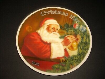 $ CDN25.51 • Buy 1987 Norman Rockwell Santa's Golden Gift Knowles Collectors Plate New In Box